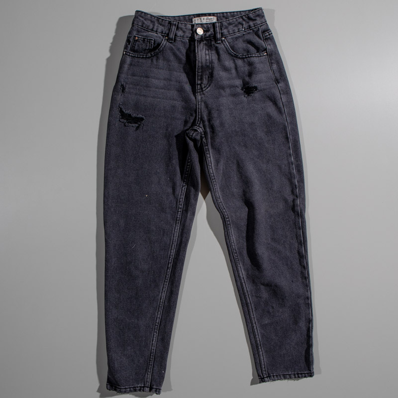 Denim Co. Distressed Grey Denim