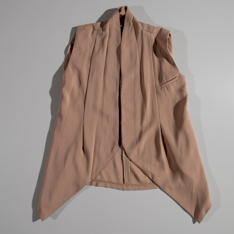 Love Culture Cognac Sleeveless Blazer